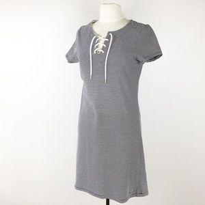 Tommy Hilfiger Nautical Stripe Lace Up SS Dress M